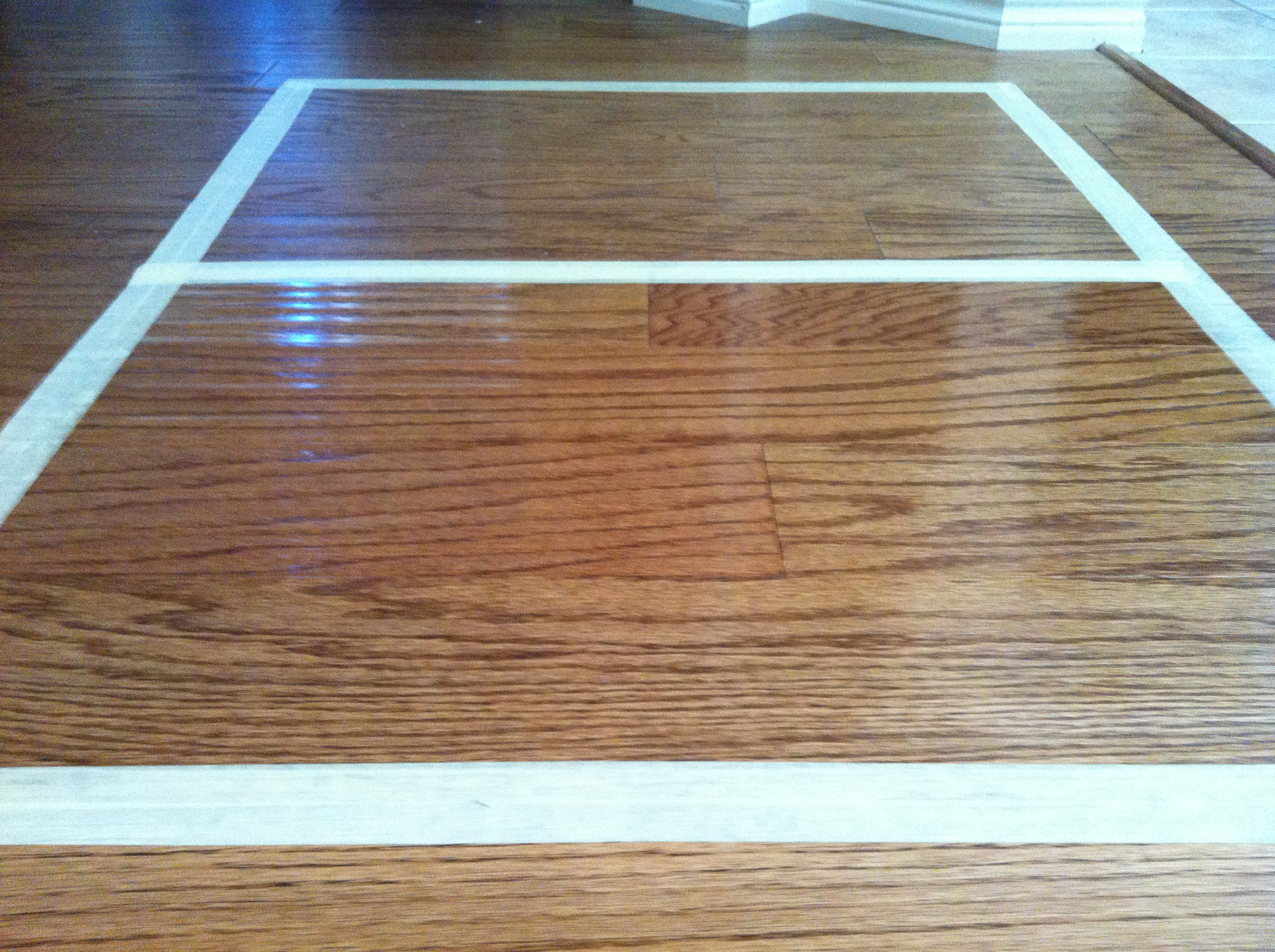 Hardwood floors clean rejuvenate before after for Before and after flooring