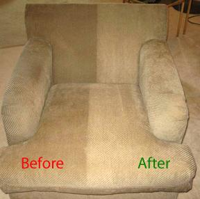 Upholstery Cleaning Before Amp After